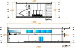 Two storey house design in autocad