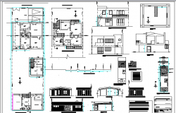 Two story medical office auto-cad details dwg file