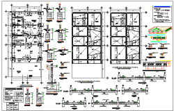 Two story residential house construction details dwg file