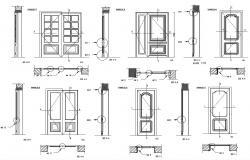 Typical Door Design DWG File