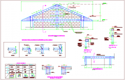 Typical beam and sheet view of structural view of school elevation view dwg file