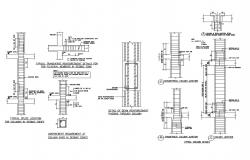 Typical column construction and reinforcement details dwg file