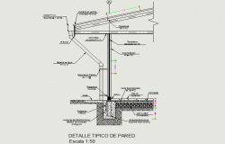 Typical detail prefabricated wall dwg file