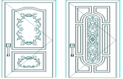 Typical door designing blocks details of house dwg file