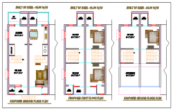 Typical layout design drawing of House design drawing