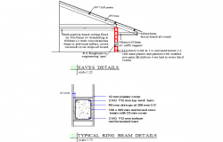 Typical ring beam and eaves detail dwg file