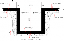 Typical sump construction details dwg file