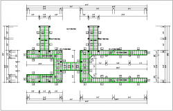 Typical wooden beam and column detail dwg file