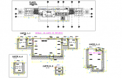 Under ground substation plan autoacd file