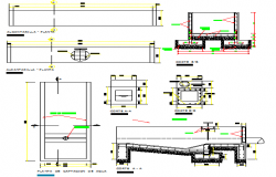 Underground conduit for carrying of drainage water details dwg file