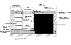 Underground dray section plan detail dwg file