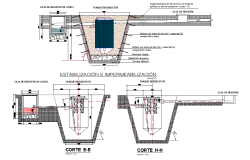 Underground tank plan and section autocad file