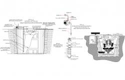 Underground water drainage tanks