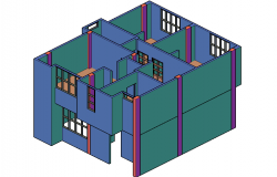 Unifamily housing in 3 d villa realur banization plan detail dwg file