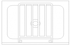 Unique Wash Basin Block Detail in DWG file
