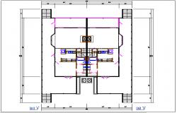 Unit A and unit B dimension detail dwg file