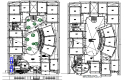 University detail plan view dwg file