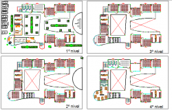 University floor plan architecture layout plan dwg file