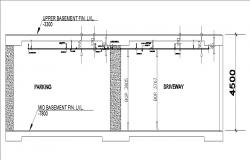 Upper basement floor plan details for industrial plant building dwg file