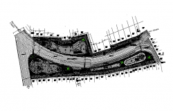 Urban architecture layout plan in cad