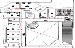 Urban area industrial plant layout structure details dwg file