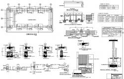Urban college construction details with foundation plan dwg file