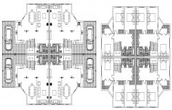 Urban house 2d plan dwg autocad file