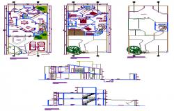 Urban housing design drawing
