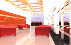 Urban jewelry showroom interior design view dwg file