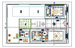 Urban kids play school architecture layout plan details dwg file