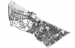Urban planning in dwg file