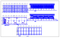 Urban primary school architecture project dwg file