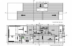 Urban project and housing plan dwg file