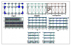 Urban school foundation and constructive details dwg file