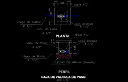 Valve plan and section layout file