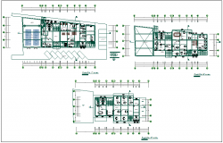 Various  layout plan of office dwg file