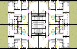 Various dining arrangements and rooms design dwg file