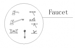 Various types of faucets design