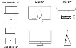 Various types of laptop details