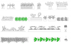 Vegetation dwg blocks
