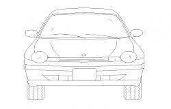 Vehicle CAD Car Elevation Drawing