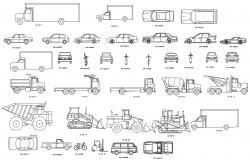 Vehicle Cad Blocks AutoCAD File