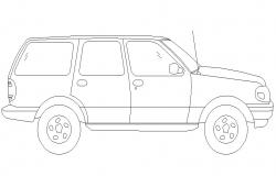 Vehicle Elevation DWG Drawing Download