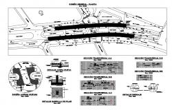 Vehicular bridge plan and construction details dwg file