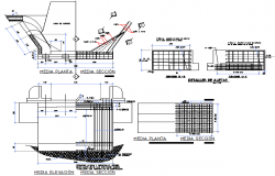 Vehicular bridge plan detail dwg file