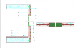 Ventilated section view with construction view dwg file
