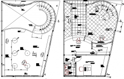 Video club architecture layout plan details dwg file