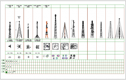 View of different type of tower
