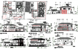 Villa Architecture Project Detail dwg file