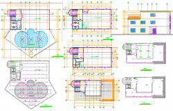 Villa Layout Plan dwg file